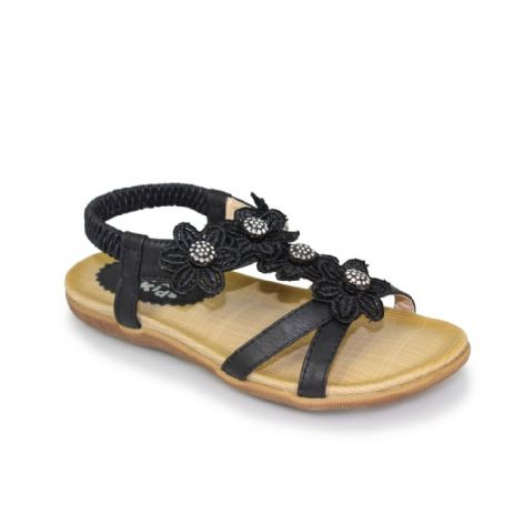 Lunar Fiji Black Junior Kids Sandal